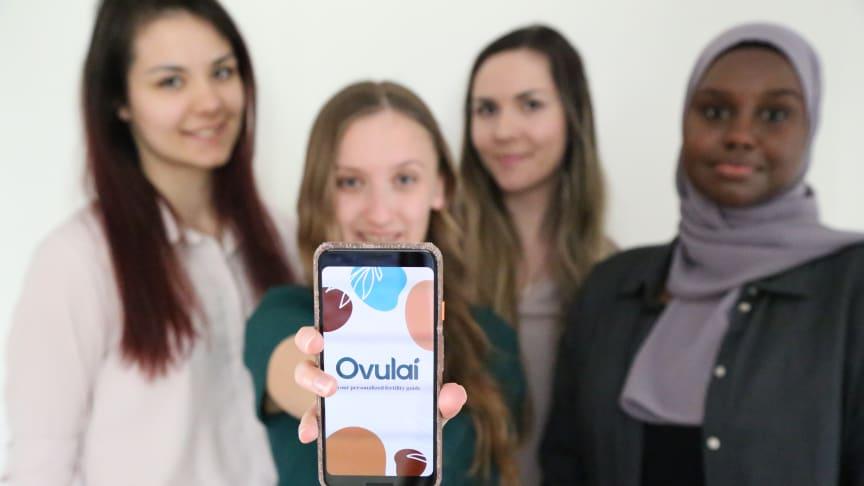 Katarina Stojanovic, Sandra Liljeqvist, Kristina Stojanovic, Leyla Ali Dholey, grundare av Ovulai. Foto: Privat
