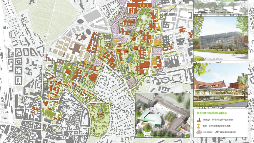 Så ska den fysiska miljön vid Lunds universitet utvecklas fram till 2025