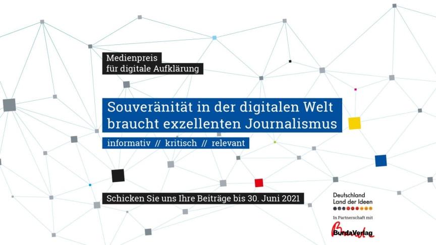 Land der Ideen lobt erstmals Medienpreis für digitale Aufklärung aus