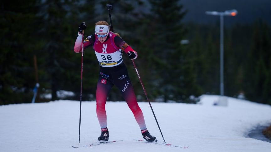 KLAR FOR IBU CUP: Åsne Skrede (Geilo IL) er blant tolv skiskyttere som skal til tyske Arber for å konkurrere i IBU Cup. Foto: Christian Haukeli