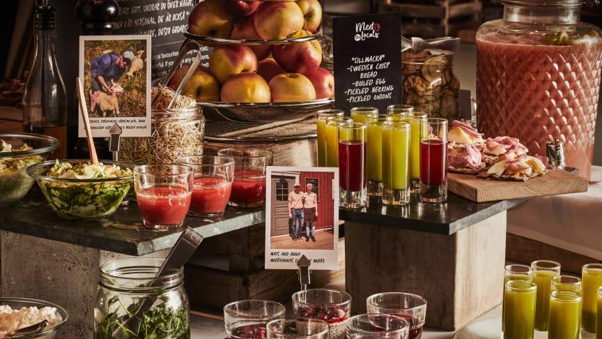 Meet the Locals på Best Western, frukost med råvaror från lokala producenter och personliga recept