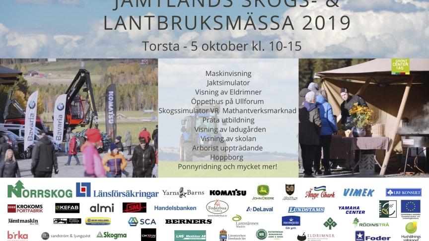 Den 5 oktober anordnas Jämtlands Skogs- & Lantbruksmässa på Torsta, Grönt Center i Ås.