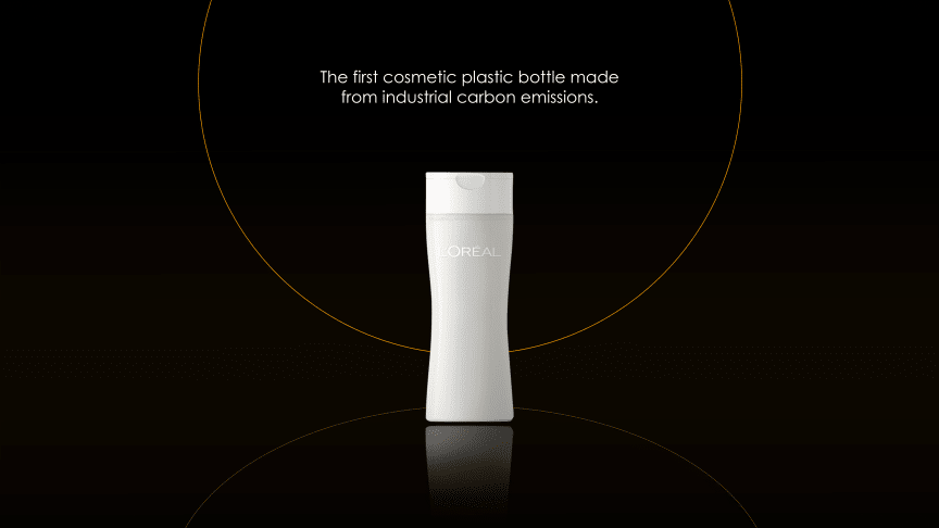 L'Oréal, Total, LanzaTech - ensimmäinen kosmetiikan tarpeisiin tehty muovipullo teollisuuden päästöistä