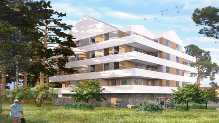 Pressinbjudan: Riksbyggen tar första spadtaget för 48 seniorbostäder i Åby