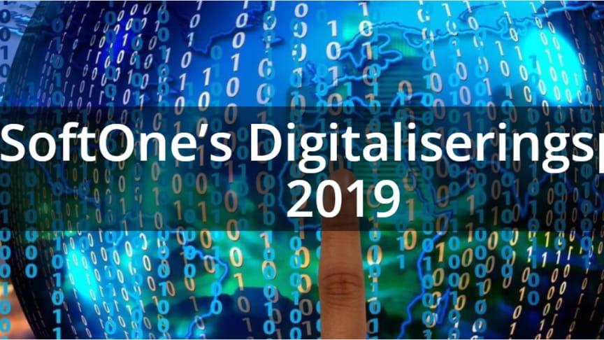 SoftOnes Digitaliseringspris delas ut under SoftOne-Dagen 2019 som äger rum den 25 oktober.
