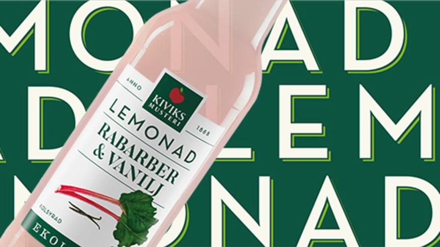 Kiviks Musteri lanserar Lemonad Rabarber Vanilj.