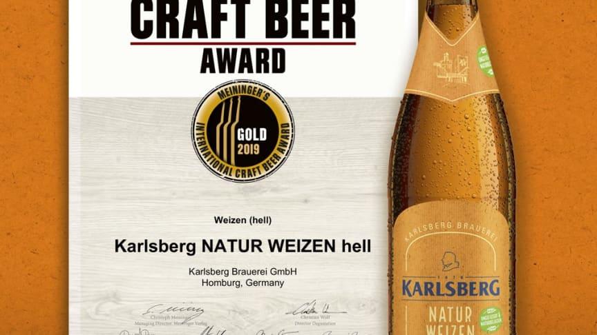 Gold für Karlsberg Natur Weizen