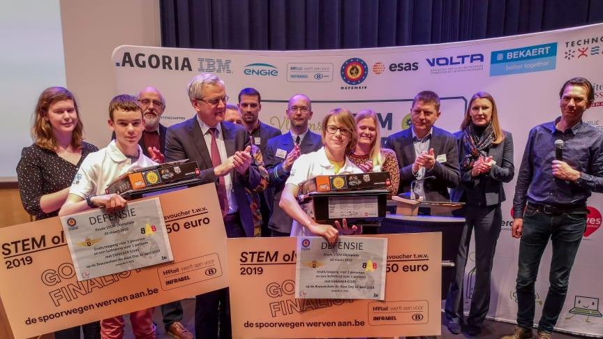 Jongeren uit Zottegem en Geel winnen STEM-Olympiade