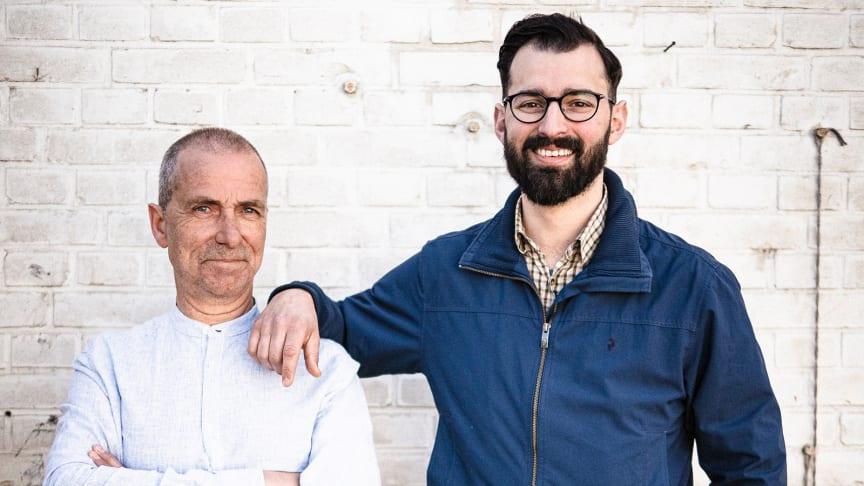 Stefan Färdig (t.v.) och Christoffer Bjermer (t.h.) driver Limhamns Kött & Vilt som blir granne med Limhamns Fiskrökeri i Norra Fiskehamnen på Limhamn.