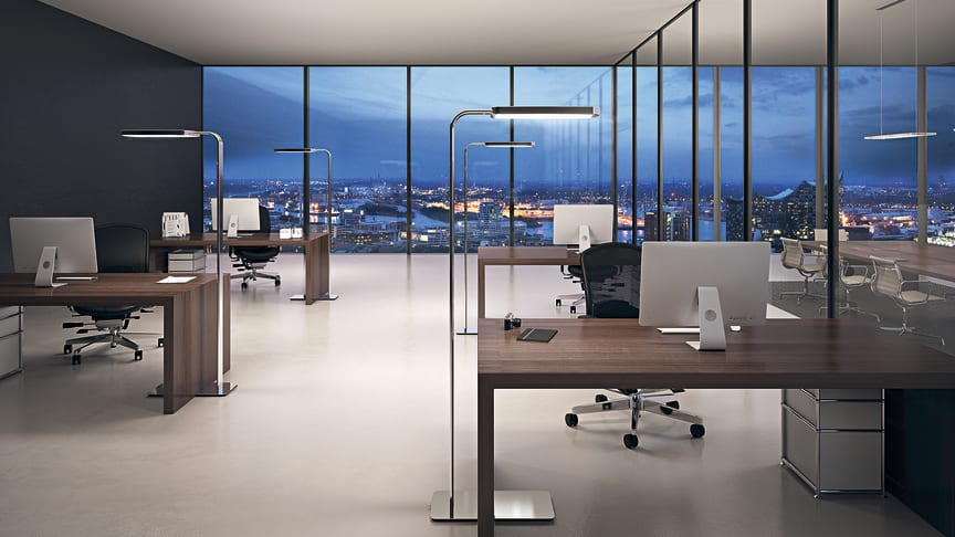 Smart dagsljus vid skrivbordet