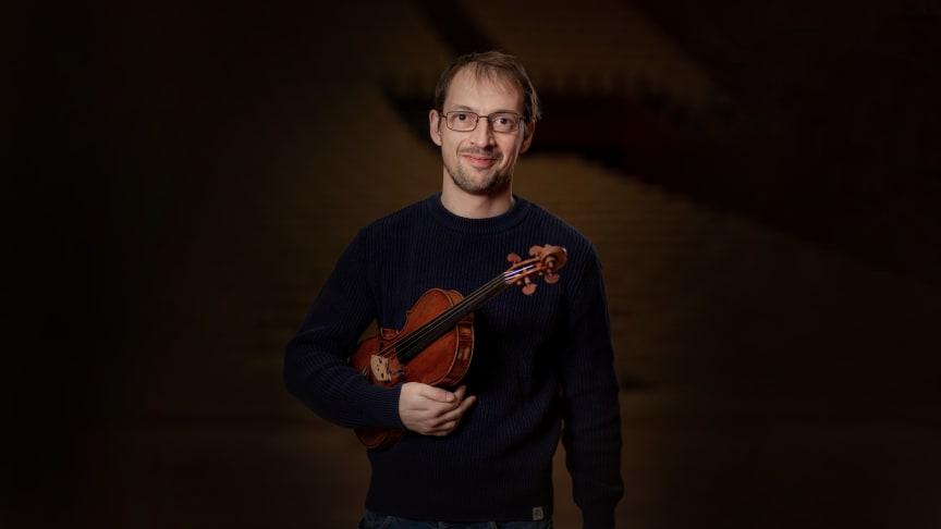 Gordan Trajkovic, konsertmästare i HSO. Foto: Mattias Berglund