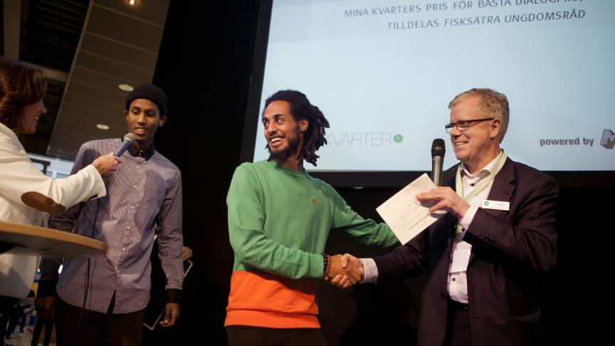 De första Mina Kvarter-priserna till Fisksätra Ungdomsråd och Jacob Sörme