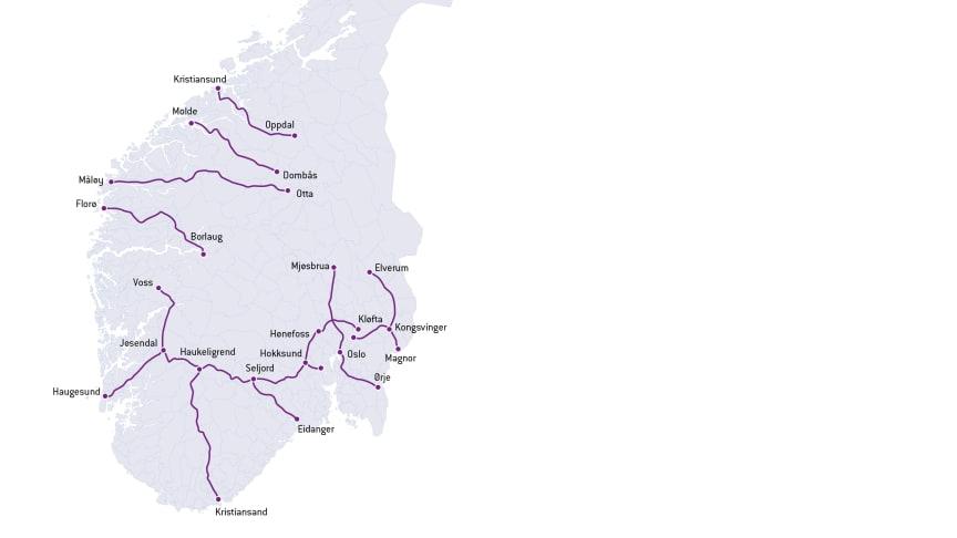 Strekninger for Enovas ladeinfrastruktur-konkurranse runde 3 (JPEG)