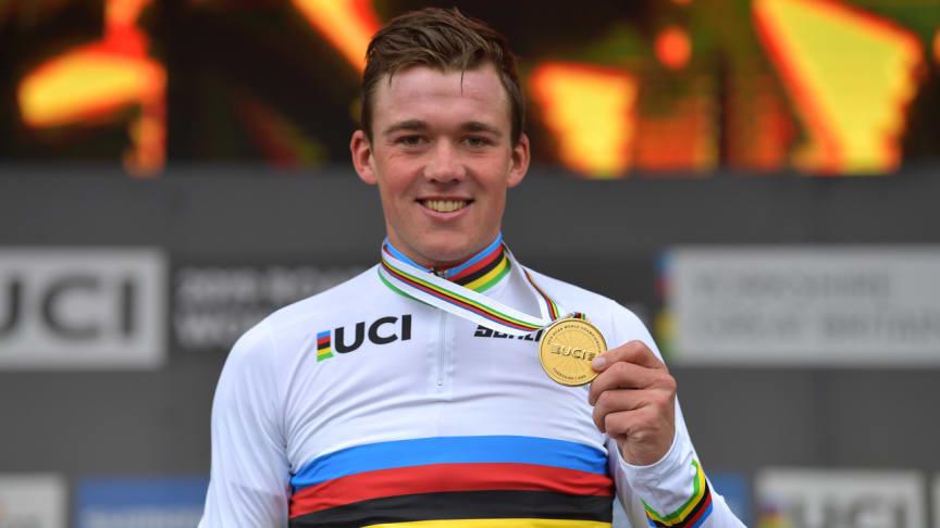 Eurosport 1, Eurosport Player, Dplay og Eurosport.dk viser Mads Pedersens første løb i VM-trøjen. Foto: Getty Images