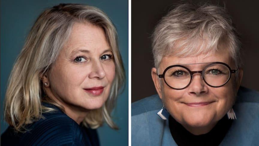 Helena von Zweigbergk och Karin Alfredsson - två författare som gästar Svalbo.