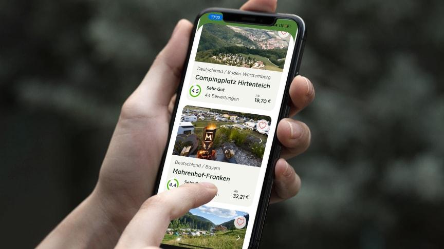 Gut sortiert: Die neue Camping App von camping.info. Foto: www.camping.info.