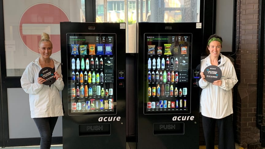 The new vending machines at Birmingham Snow Hill