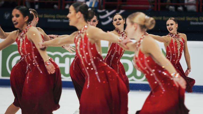 Team Surprise (Sweden 1)  som fick 72,83 poäng för sin prestation under det korta programmet.