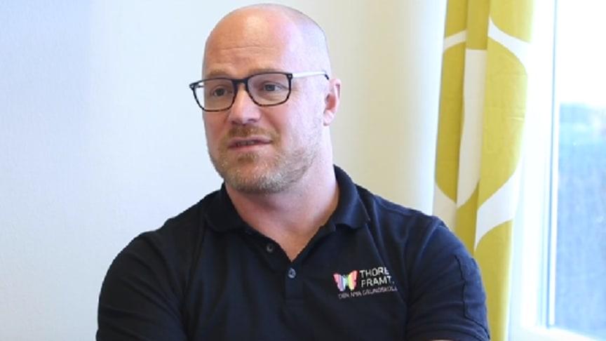 Per Johannesson, rektor på Thoren Framtid i Kalmar, har en skola där över 30 olika språk talas.