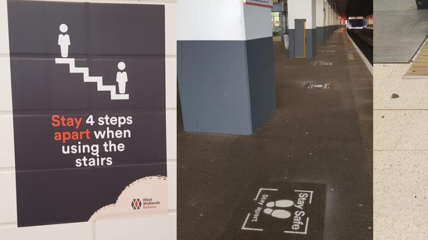 Examples of new signage at Birmingham's Snow Hill station