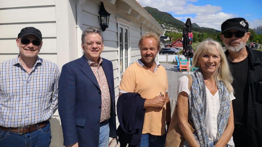 Frå venstre: komGisle Kverndokk, Michael Pavelich, Øystein Wiik, Toni Herlofson og Ronald Rørvik