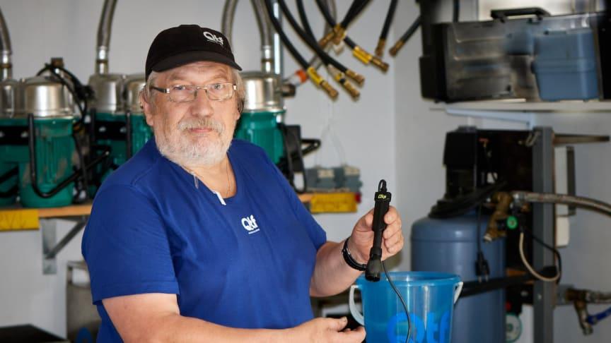 QTF mäter syre med LDO-instrument i fält (Luminescent Dissolved Oxygen)