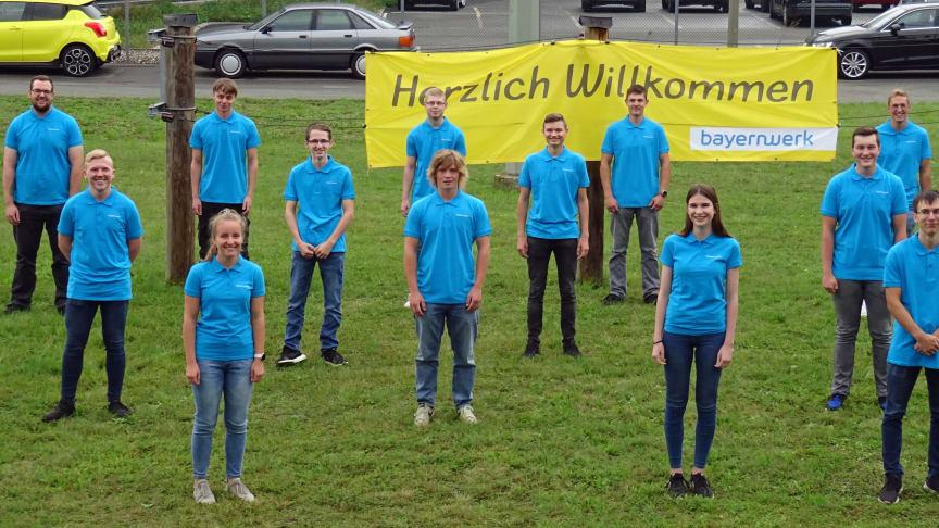 Ausbildungsstart für die Energiehelden von morgen: Bei der Bayernwerk Netz GmbH beginnen insgesamt 72 Auszubildende ihre Karriere, 14 in der Region Oberfranken in Bayreuth (Foto).
