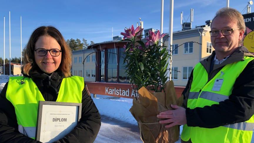Maria Fiskerud och Torbjörn Nilsson (MP), ordförande i miljönämnden