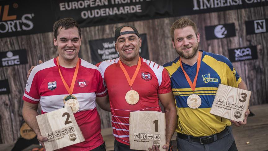 Sverige bjuder på tufft motstånd under TIMBERSPORTS® European Trophy och Rookie-EM
