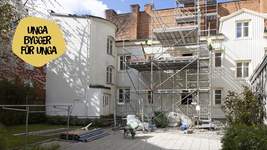 Unga bygger för unga - projekt Skolgatan 22, Norrköping. Foto: Niclas Sandberg
