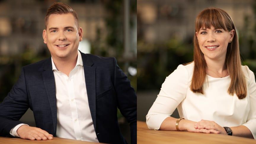 Tobias Gustavsson och  Sofie Träff