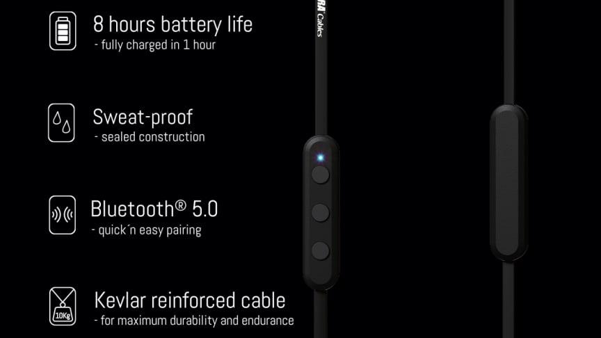 ZERO-X är en ny stilren allroundhörlur utrustad med senaste versionen av Bluetooth® 5.0.
