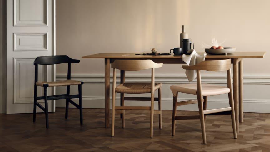 Stolen Hedda av David Ericsson är en av flera nyheter som presenteras i Gärsnäs monter A07:20  under Stockholm Design Week 2019.