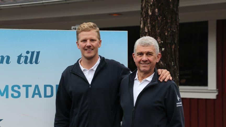David och Ulf Nordentjell på Swecamp Bomstadbaden är nöjda med anläggningen från BAGA.