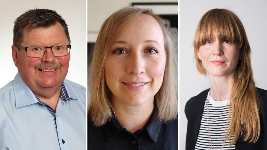 Lennart Magnusson, verksamhetschef vid Nka, Elin Karlsson, jurist på Socialstyrelsen, och Karin Gavelin, utredare på Socialstyrelsen, medverkar på webbinariet.