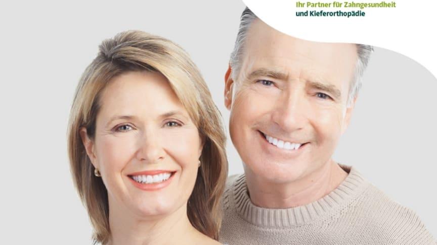 Parodontitis-Flyer infomiert über Gefahren für den ganzen Körper.