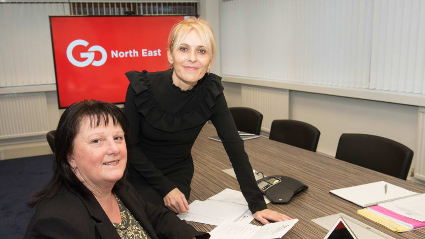 Shirley Connell and Stephanie Young at Go North East