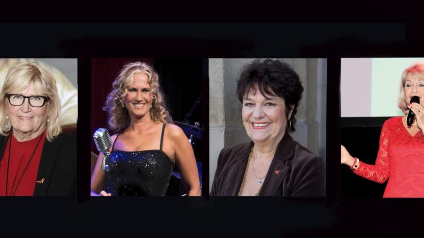 Karin Schenck-Gustafsson, Maria Wells,  Solveig Ternström och Alexandra Charles von Hofsten