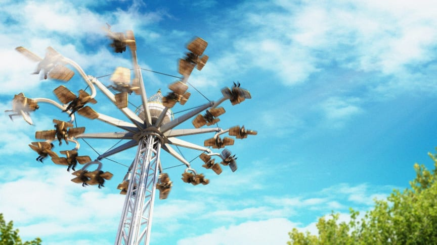 This year's new attraction at Liseberg: Test your wings on AeroSpin