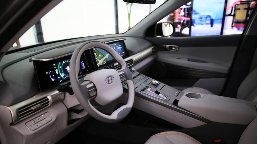 Hyundais nye hydrogenelektriske bil har kapasitet til 800 km på en fylling.