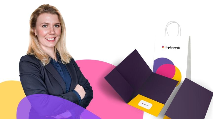 Caroline Magnevill, Ny VD på Duplotryck