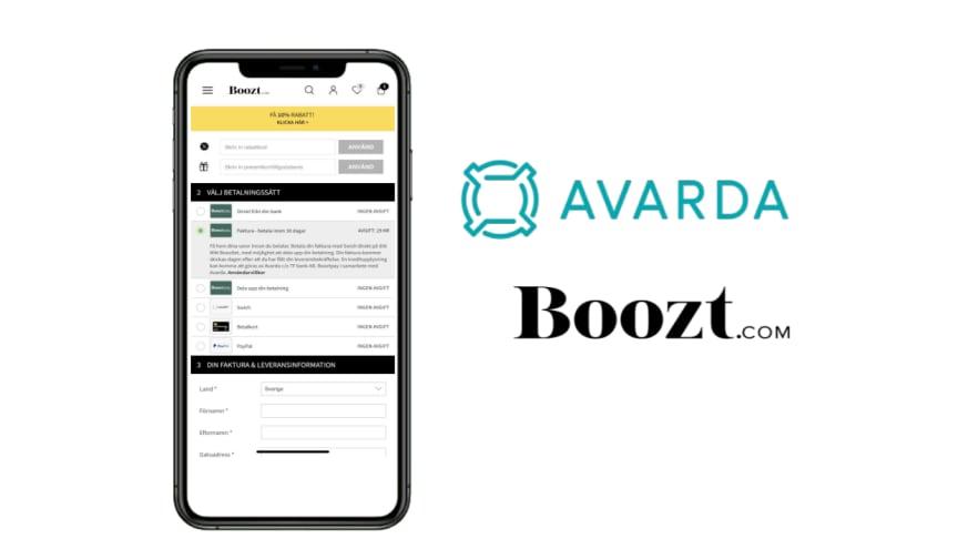 Avarda lanserar betalningslösning för Boozt