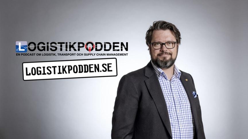 Per Olof Arnäs, logistikforskare & grundare av Logistikpodden. Fotograf: Oscar Mattsson