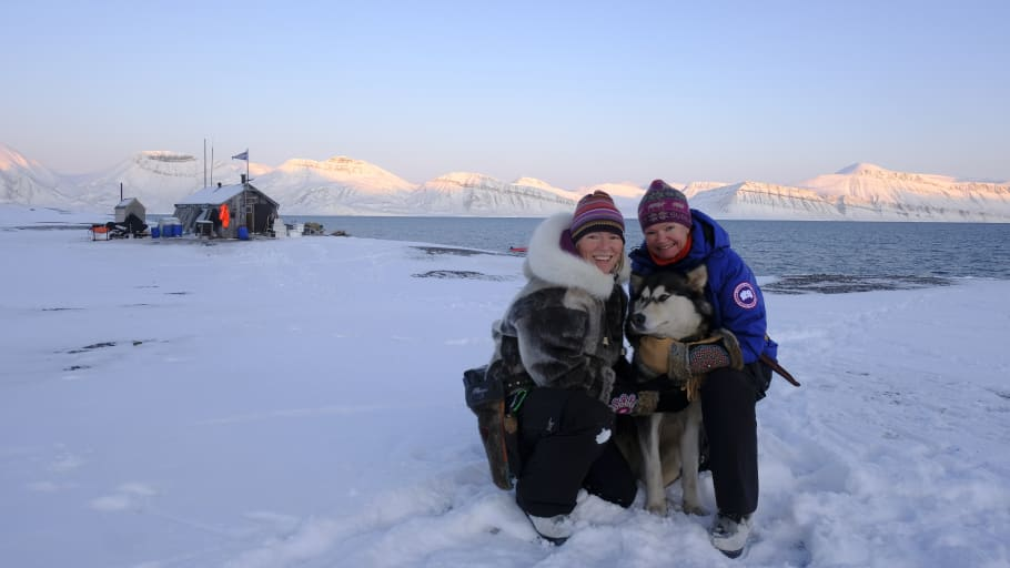 MODERN EXPLORERS: The godmothers of battery hybrid-powered MS Fridtjof Nansen are the first women team to ever overwinter in remote Arctic Svalbard. Canadian Sunniva Sørby and Norwegian Hilde Fålun Strøm - Photo: Hearts in the Ice (September 2021)