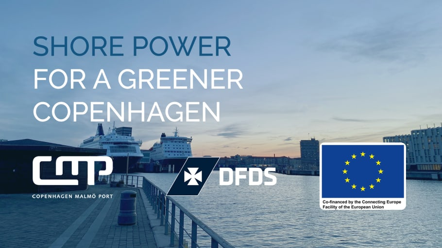 Copenhagen's first shore power facility is inaugurated for the DFDS ferries  (October 2021)