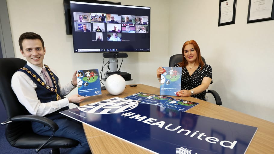 MEA United launches football blueprint for Mid and East Antrim