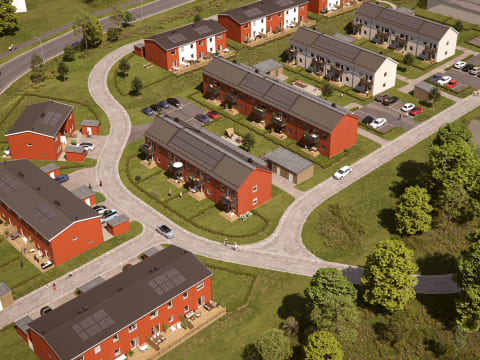 Nu startar BoKlok försäljningen av nytt bostadskvarter i Sundsvall