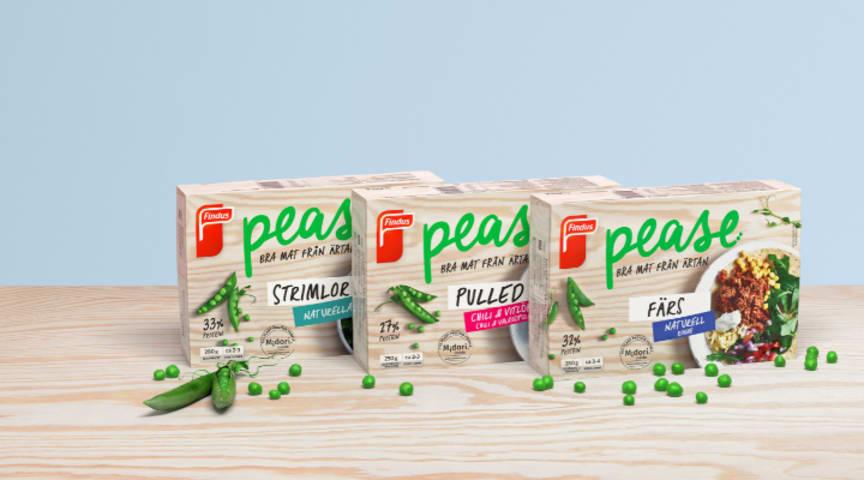 Findus tar nästa steg i proteinskiftet och lanserar Pease – Bra mat från ärtan