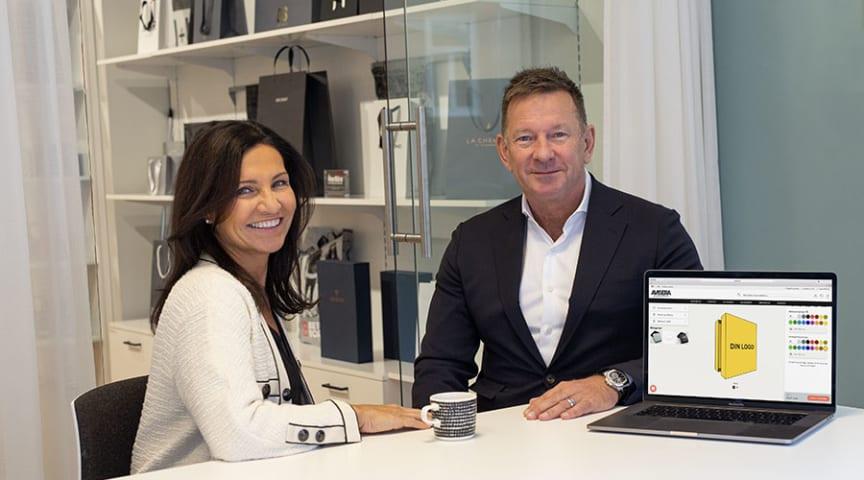 Mariella Zalbo Lundgren, Marknadschef och Peter Lundgren, VD på Avisera
