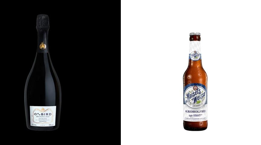 Produktnyheterna Oddbird Spumante och Maisel's Weisse Alkoholfri